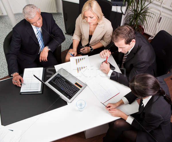 Business team at the meeting Stock photo © AndreyPopov