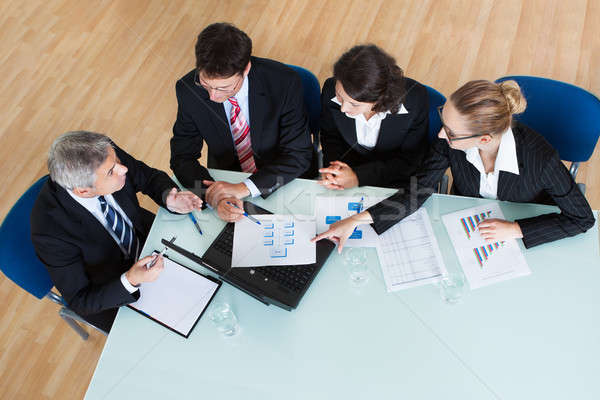 Business meeting for statistical analysis Stock photo © AndreyPopov