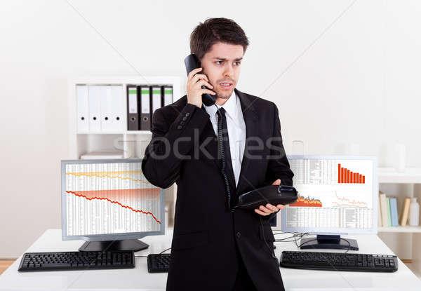 складе брокер телефон говорить Сток-фото © AndreyPopov