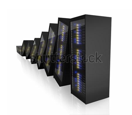 Plusieurs serveur isolé blanche ordinateur Photo stock © AndreyPopov