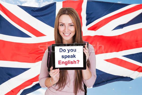 Woman Asking Do You Speak English Stock photo © AndreyPopov