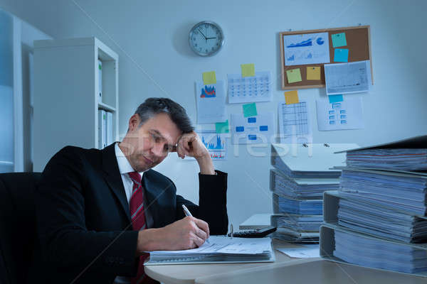 Boredom Mature Businessman Stock photo © AndreyPopov