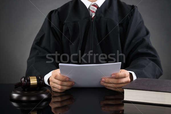 судья чтение бумаги мужчины Сток-фото © AndreyPopov