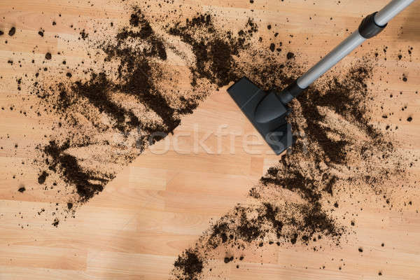 Vacuum Cleaning Hardwood Floor Stock photo © AndreyPopov