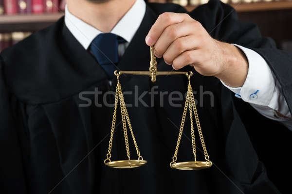 Juiz justiça escala homens Foto stock © AndreyPopov