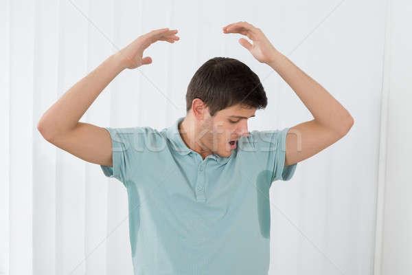 Man oksel home persoon mannelijke Stockfoto © AndreyPopov