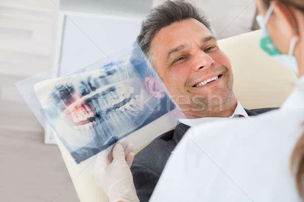 Dentista denti Xray imprenditore felice Foto d'archivio © AndreyPopov