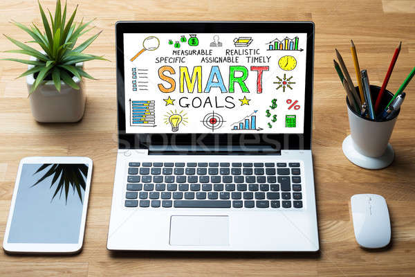 Close-up Of Laptop Showing Smart Goals Concept Stock photo © AndreyPopov