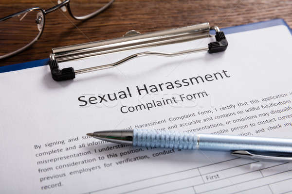Sexual Harassment Complaint Form With Pen Stock photo © AndreyPopov
