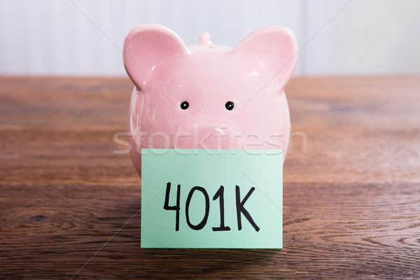 Piggy Bank For 401k Savings Stock photo © AndreyPopov