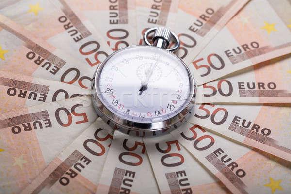 Cronógrafo euros notas vista financiar Foto stock © AndreyPopov