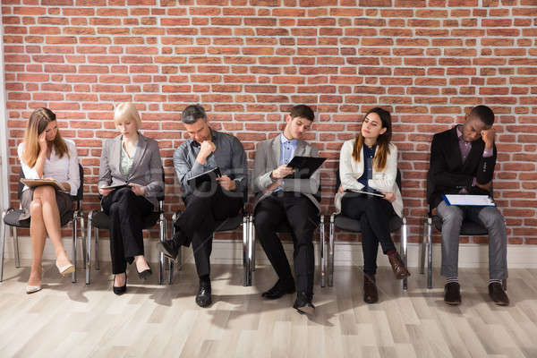 Diverse Businesspeople Waiting For Job Interview Stock photo © AndreyPopov