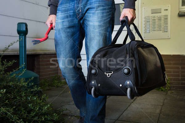 Robber With Steal Handbag From Home Stock photo © AndreyPopov