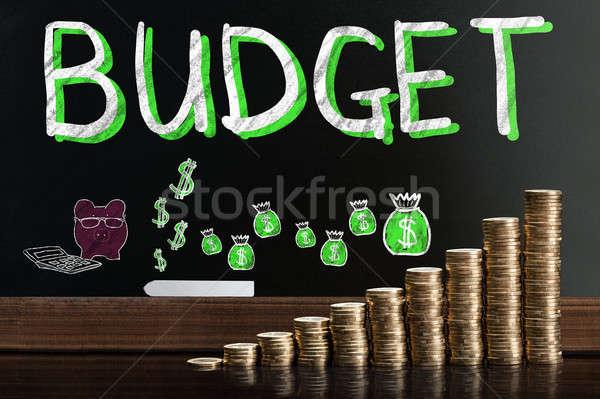 Budget Word On Blackboard Stock photo © AndreyPopov