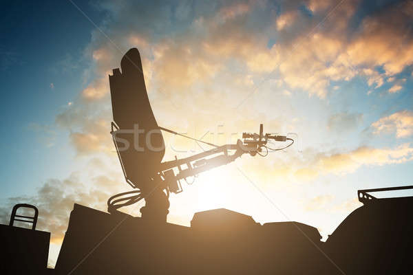 Silhouette antenne haut tv van Photo stock © AndreyPopov