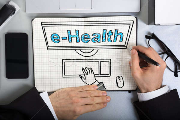 Business Man Drawing E-health Concept Stock photo © AndreyPopov