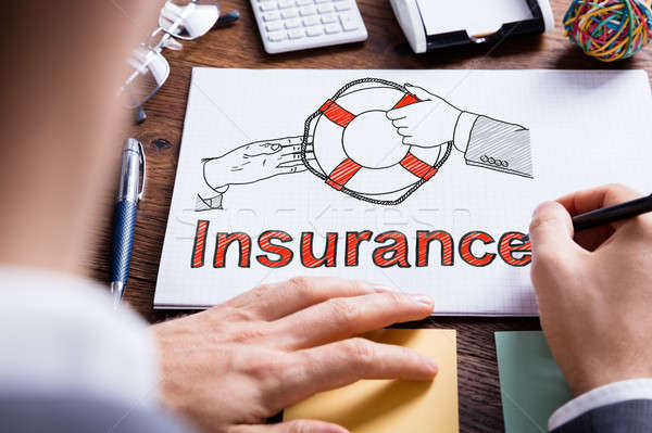 Person Drawing Insurance Concept Stock photo © AndreyPopov