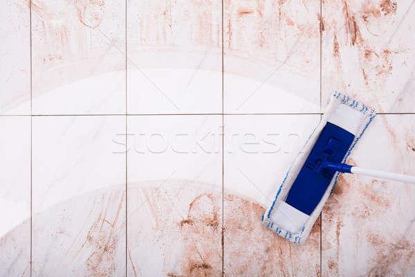 Mop Cleaning Kitchen Floor Stock photo © AndreyPopov