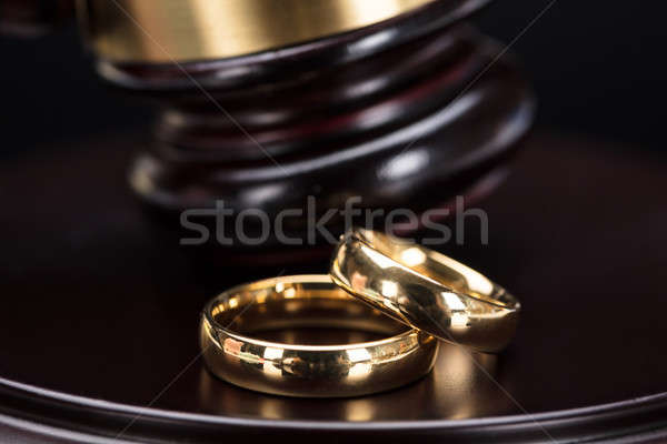 Close-up Of Wedding Rings Stock photo © AndreyPopov