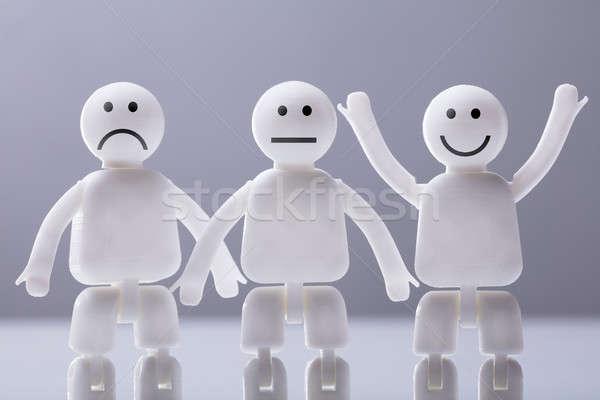 Três humanismo expressões faciais Foto stock © AndreyPopov