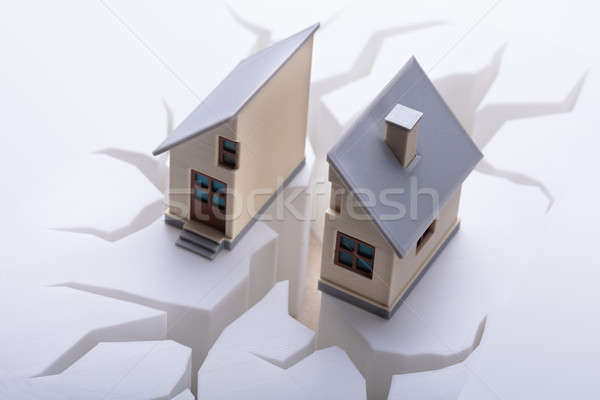 Elevated View Of Broken House Stock photo © AndreyPopov