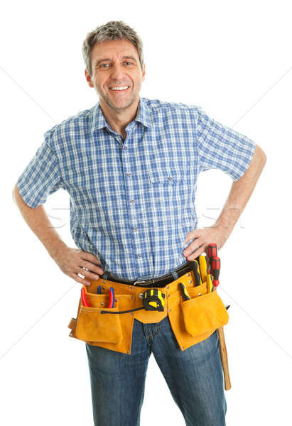 Worker wearing hard hat Stock photo © AndreyPopov