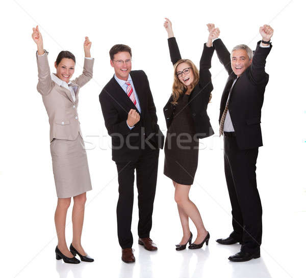 Stockfoto: Vier · vieren · opgewonden · professionele
