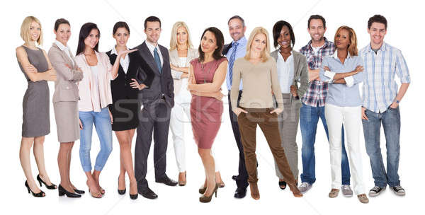 Diverso pessoas do grupo pessoas isolado branco Foto stock © AndreyPopov