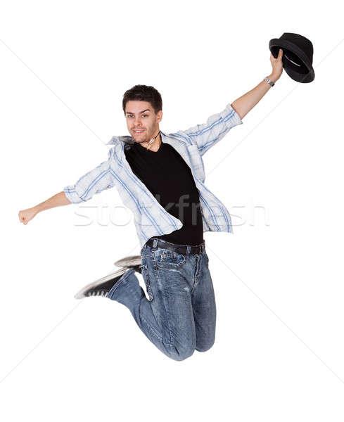Сток-фото: молодые · танцовщицы · воздуха · Перейти · оружия · человека