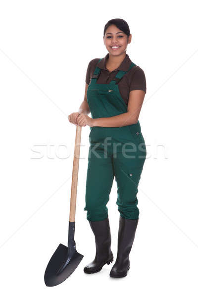 Young Female Gardner With Shovel Stock photo © AndreyPopov