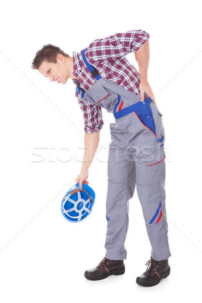 Male Worker Suffering From Back Pain Stock photo © AndreyPopov