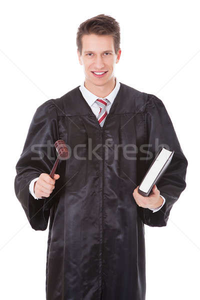 Judge Holding Gavel And Book Stock photo © AndreyPopov