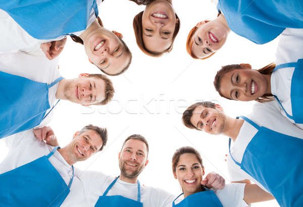 Cleaners standing in circle Stock photo © AndreyPopov