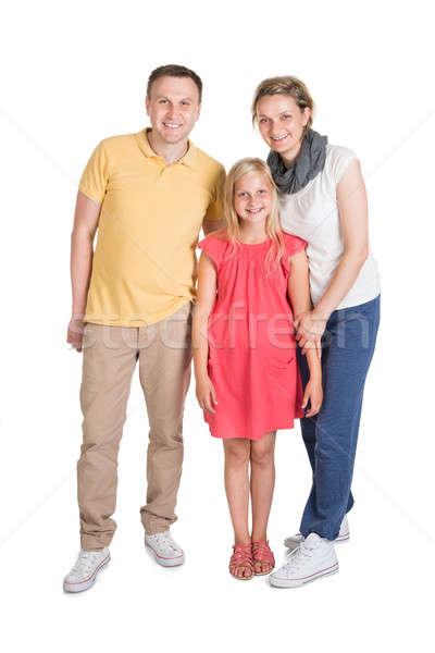 Mutlu genç aile birlikte çocuk yalıtılmış Stok fotoğraf © AndreyPopov