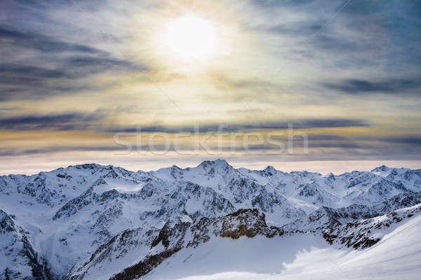 Snowy Alpine Ski Resort Stock photo © AndreyPopov