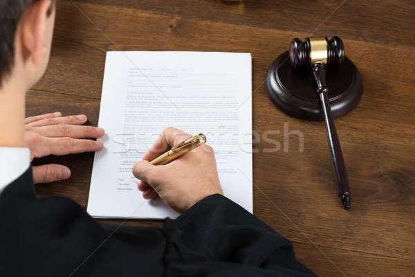 Giudice iscritto giuridica documenti Foto d'archivio © AndreyPopov
