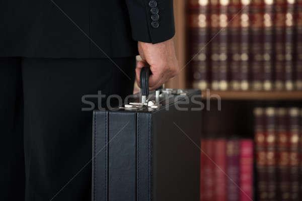 бизнесмен портфель служба вид сзади бизнеса Сток-фото © AndreyPopov