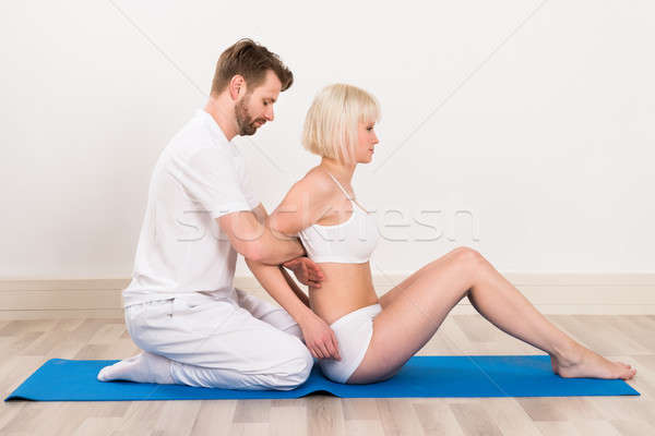 Women At Physio Therapy Session Stock photo © AndreyPopov