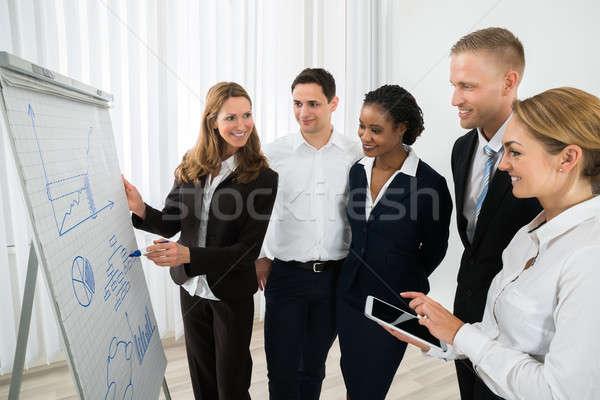 Gerente estratégia de negócios feliz feminino negócio Foto stock © AndreyPopov