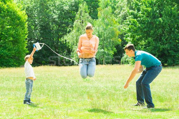 Family Having Fun In Park Stock photo © AndreyPopov