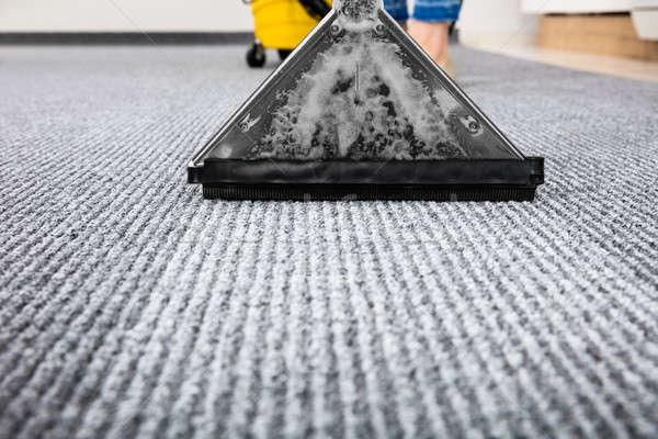 真空掃除機 カーペット クローズアップ 洗浄 作業 サービス ストックフォト © AndreyPopov