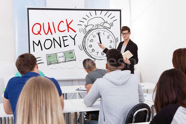 Szybki ceny wykład człowiek student czasu Zdjęcia stock © AndreyPopov