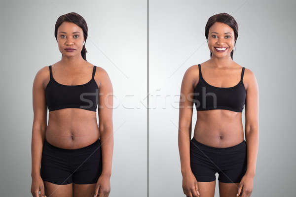 Before And After Concept Showing Fat To Slim Woman Stock photo © AndreyPopov