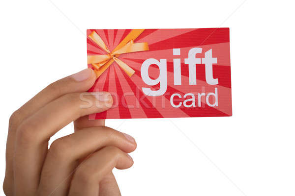 Persoon gift card hand Stockfoto © AndreyPopov