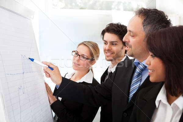 Stock photo: Group of business people at presentation
