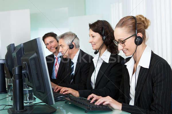 Call centre operators Stock photo © AndreyPopov