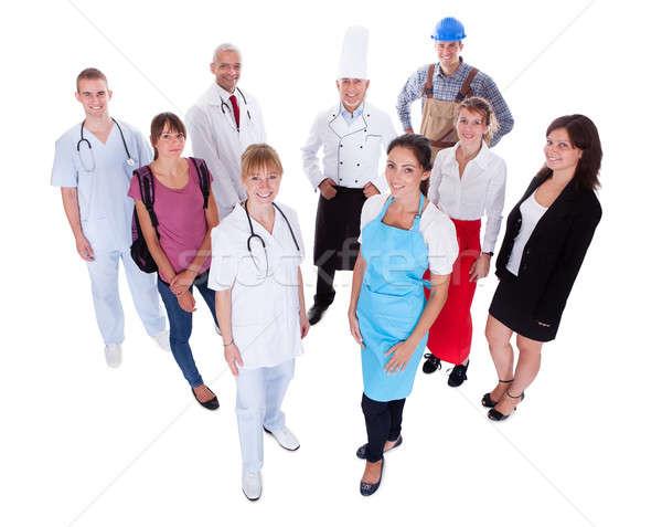 Grup insanlar meslekler büyük bir grup insanlar tıbbi Stok fotoğraf © AndreyPopov
