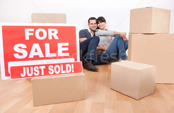 Couple moving into new house Stock photo © AndreyPopov