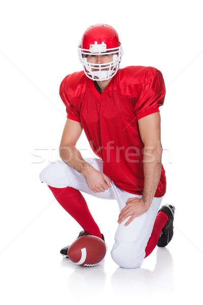 Portrait of American Football player Stock photo © AndreyPopov