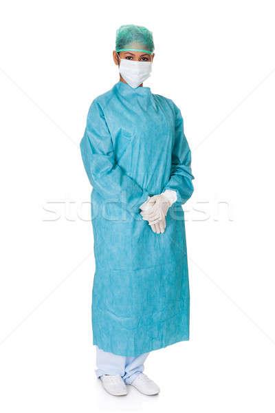 Feminino cirurgião isolado branco mulher médico Foto stock © AndreyPopov